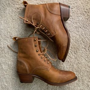 Aerin brown leather boots